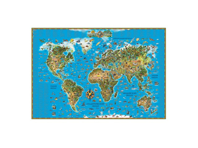 Карта настенная DMB Мир 450 123141