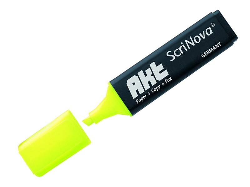 Маркер Scrinova Akt 1-5mm Yellow 735005 маркер attache selection neon dash 1 5mm yellow 426881