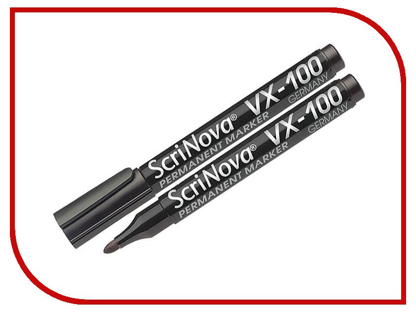 Маркер Scrinova Permanent VX-100 1-3mm Black 710001 ez permanent tattoo machine kits digital permanent makeup eyebrow