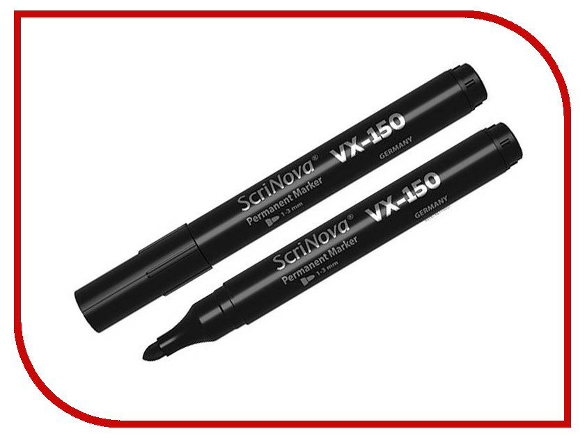 Маркер Scrinova Permanent VX-150 1-3mm Black 715001 ez permanent tattoo machine kits digital permanent makeup eyebrow