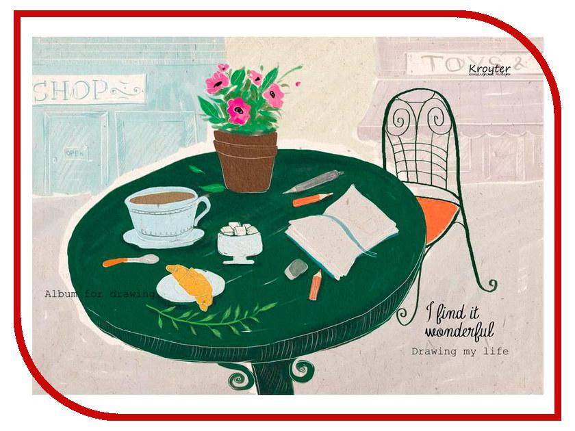 Альбом для рисования Kroyter A4 50 листов 693933 альбом планшет для профессионального рисования европа 50 листов гребень с1726 04