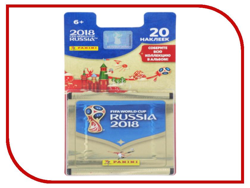 Набор из 4 пакетиков наклеек Panini Чемпионат Мира По Футболу FIFA 2018