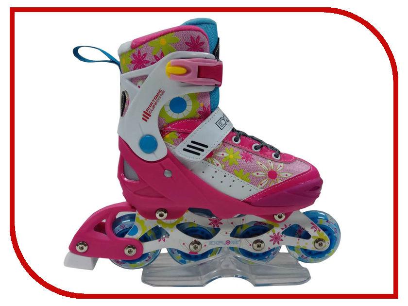 Коньки Explore Роликовые коньки раздвижные Activa I 32-35 Pink роликовые коньки раздвижные barbie