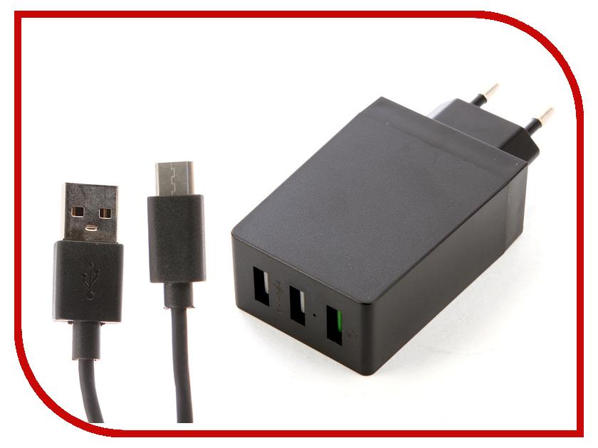 Зарядное устройство DF Tor-06 3xUSB QC 3.0 Smart Charge + Кабель Type-C tor cd 300 a 30 м