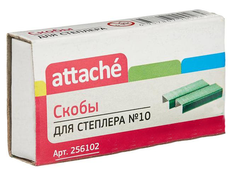 Скобы для степлера Attache №10 1000шт Green 256102