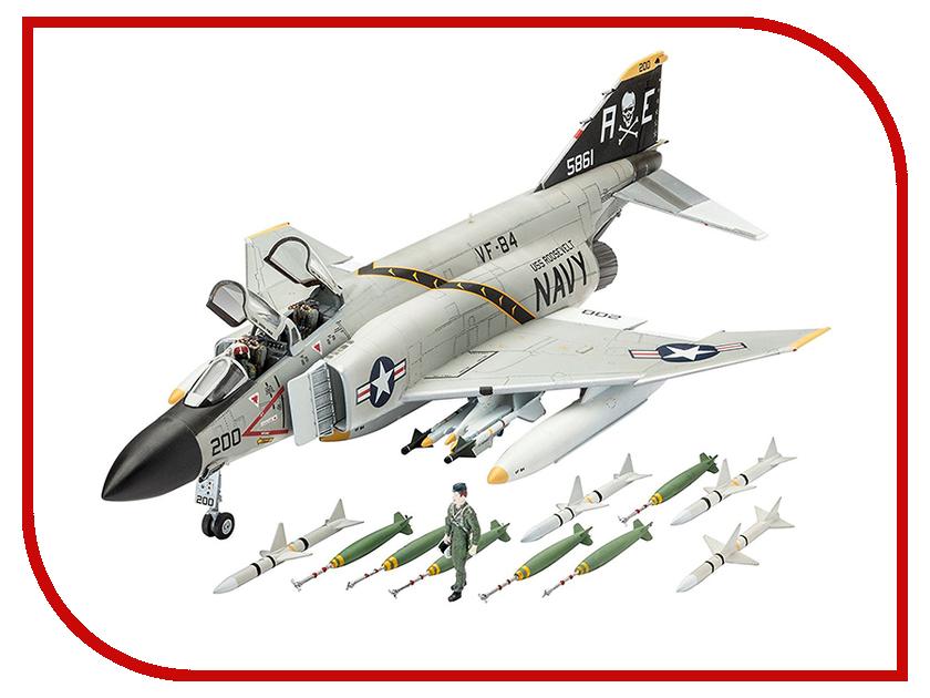 Сборная модель Revell Истребитель F-4J Phantom US Navy 03941R самолеты и вертолеты revell набор со сборной моделью истребитель dassault rafale m