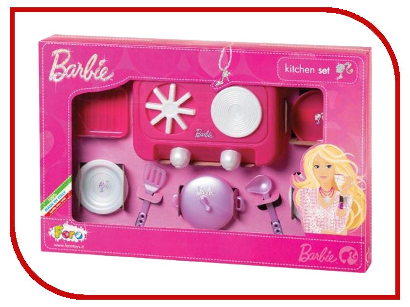 Игра Faro Набор для кухни с плитой Barbie 2720 barbie набор для декора дома холодильник с продуктами cfg65 cfg70