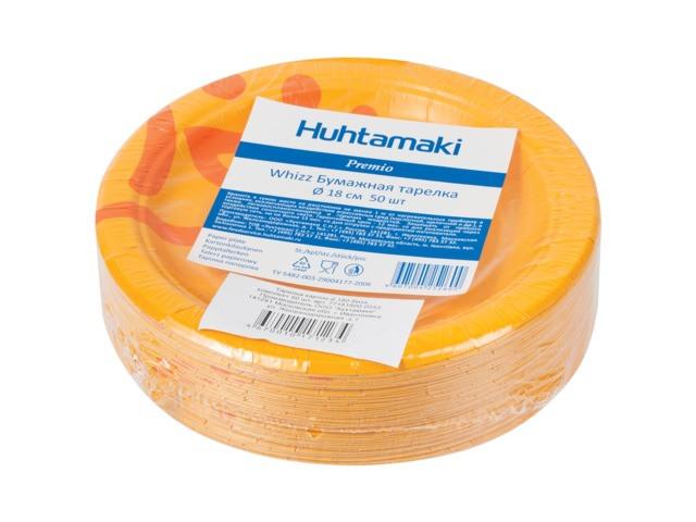 Одноразовые тарелки Huhtamaki Whizz 180mm 50шт 602321