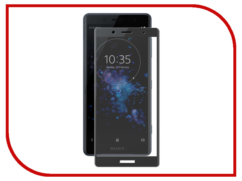Аксессуар Защитное стекло для Sony Xperia XZ2 Compact Onext 3D Black 41730 аксессуар защитное стекло onext 3d для iphone 6 6s white 41002