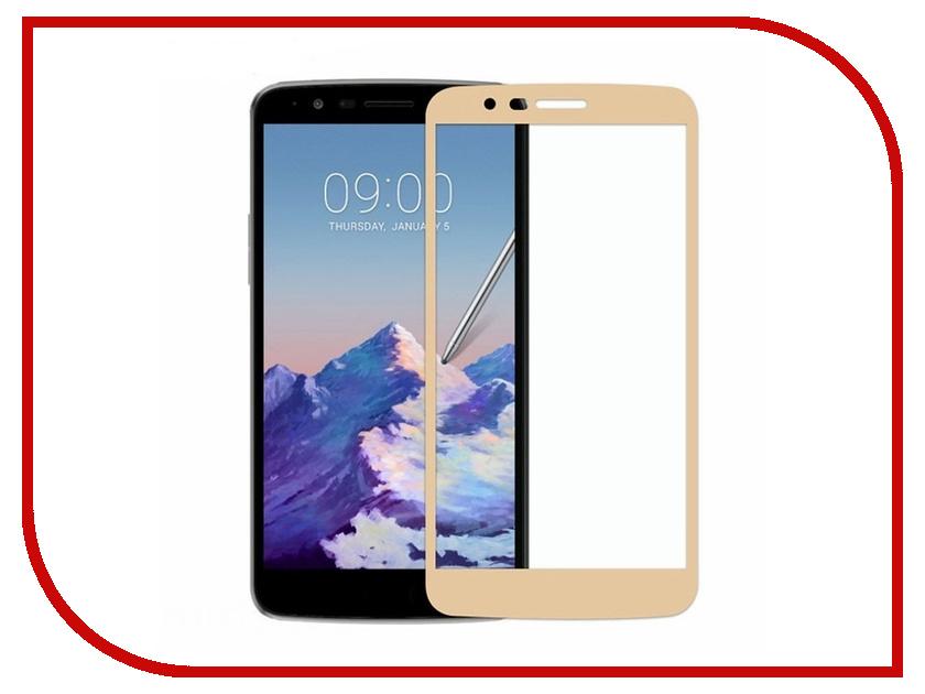 Аксессуар Защитное стекло для LG K8 Onext Gold Frame 41656 аксессуар защитное стекло lg k7 onext 41053