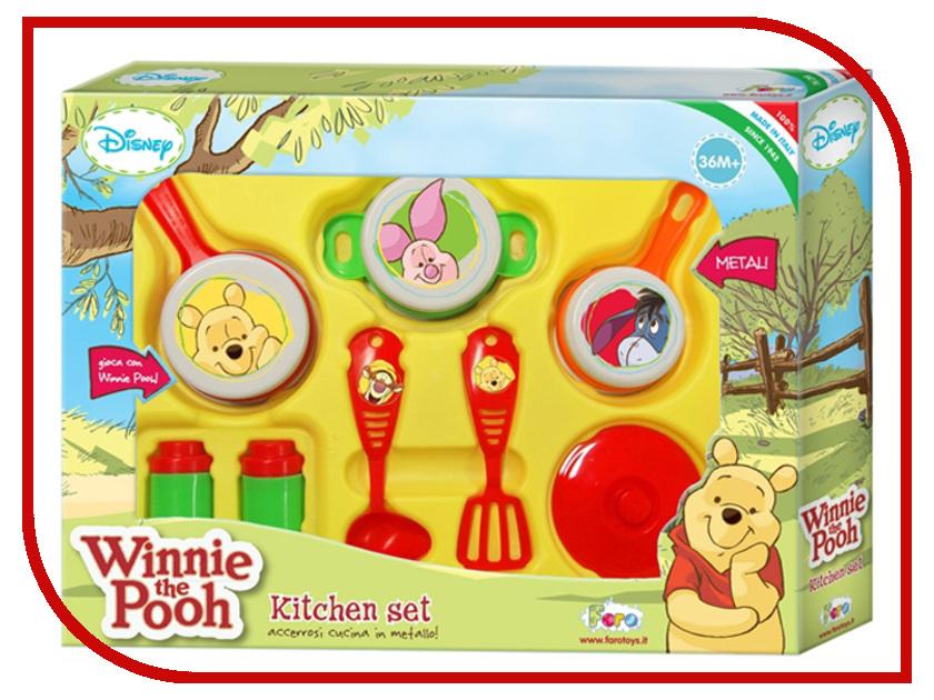 Игра Faro Кухонный набор посуды Winnie The Pooh 5314 игрушечная посуда faro большой набор посуды