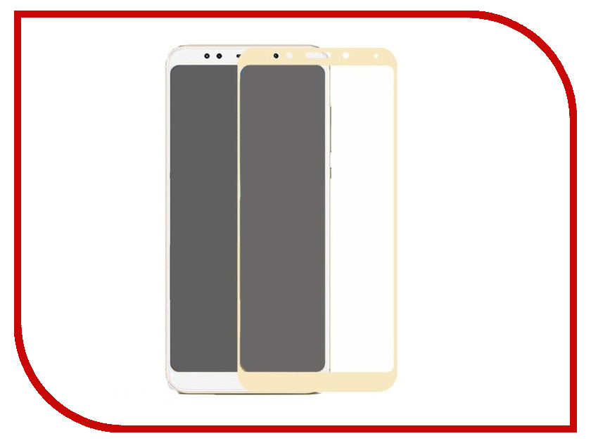 Аксессуар Защитное стекло для Xiaomi Redmi 5 Onext Gold Frame 41731 аксессуар защитное стекло samsung galaxy s8 plus onext 3d gold 41266