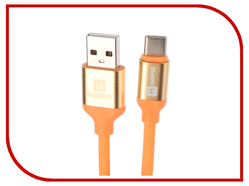 Аксессуар Harper SCH-730 USB - USB Type-C 1m Orange стоимость
