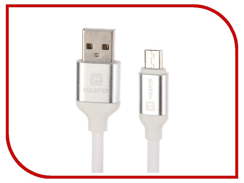 все цены на Аксессуар Harper SCH-330 USB - MicroUSB 1m White онлайн