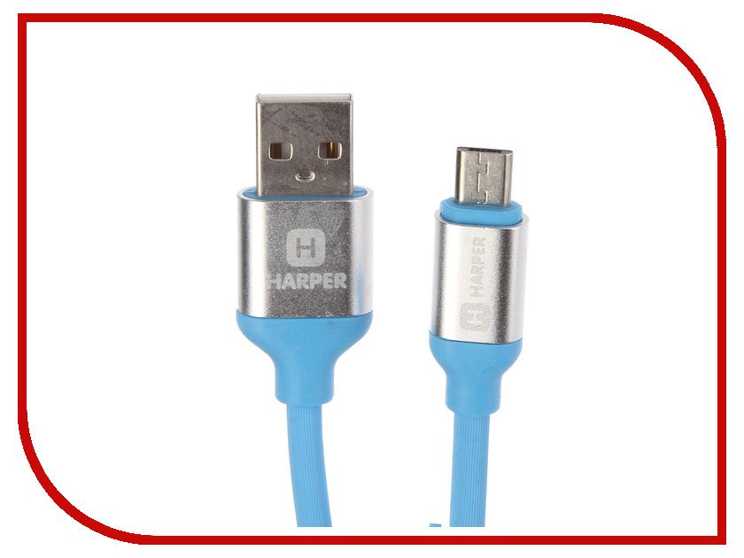 все цены на Аксессуар Harper SCH-330 USB - MicroUSB 1m Blue онлайн