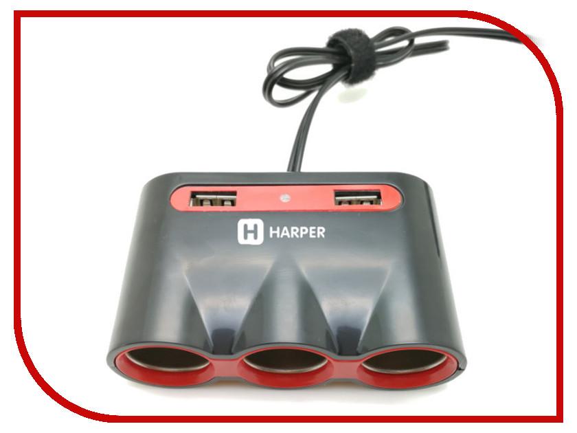 Разветвитель Harper DP-330 наушники с оголовьем harper hb 401 green с микроф зел
