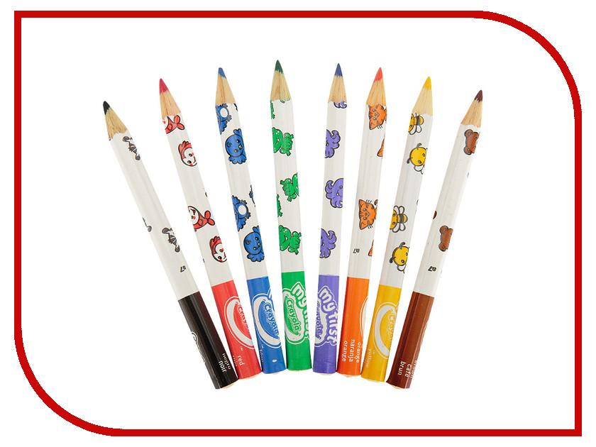 Карандаши цветные Crayola 8 цветов для малышей 3678 карандаши цветные crayola 12 шт