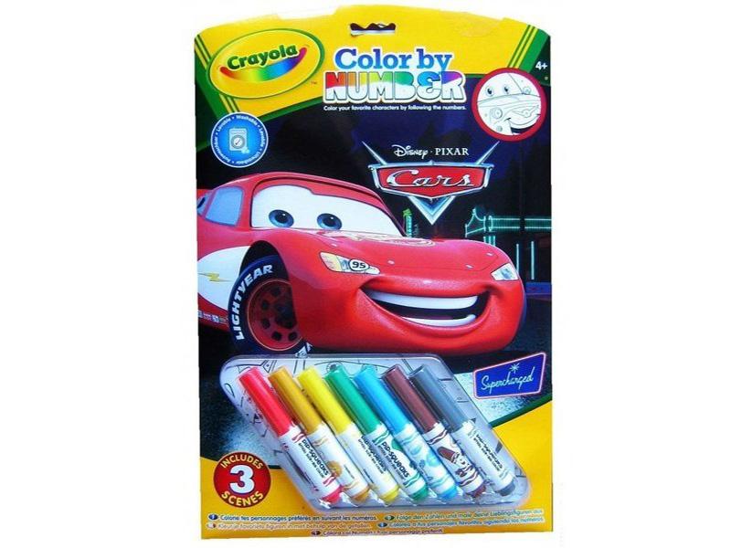 Раскраска по номерам Crayola Тачки 55521 crayola раскраска crayola color wonder тачки