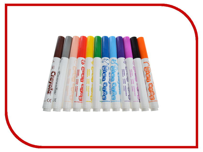 Фломастеры Crayola 12 цветов для малышей 8325 блестящие фломастеры crayola 5 цветов 58 8645