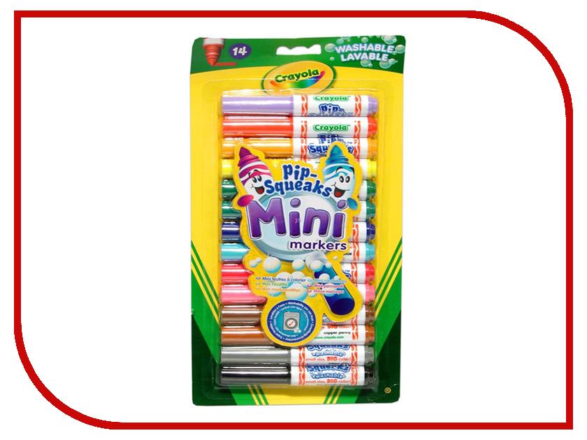 Фото - Смываемые мини-маркеры Crayola 14 цветов 8343 фломастеры 12 цветов crayola смываемые супер чисто в картонной упаковке