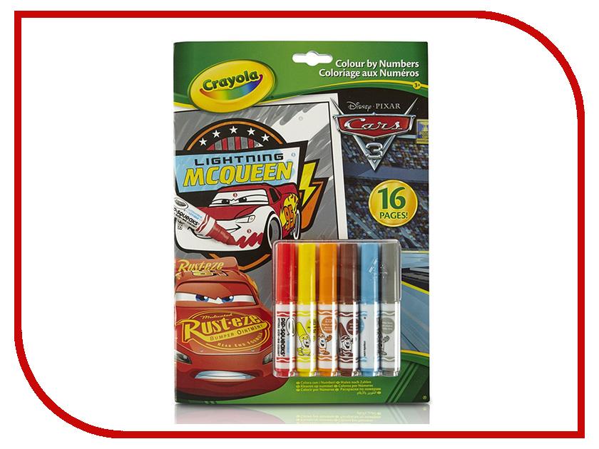 Раскраска по номерам Crayola Тачки 3 04-0289R наборы для рисования crayola большой набор для творчеста тачки 3