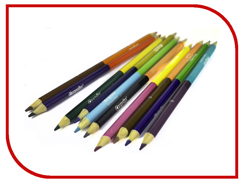 Карандаши цветные двухсторонние Crayola 12 цветов 68-6100 карандаши цветные crayola 12 шт