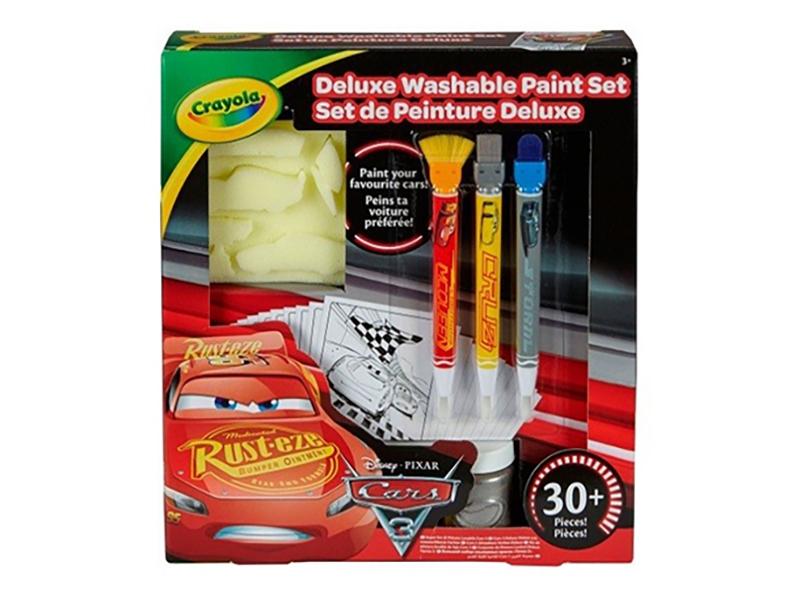 Набор со смываемыми красками Crayola Тачки 3 Делюкс 54-0159 crayola раскраска crayola color wonder тачки