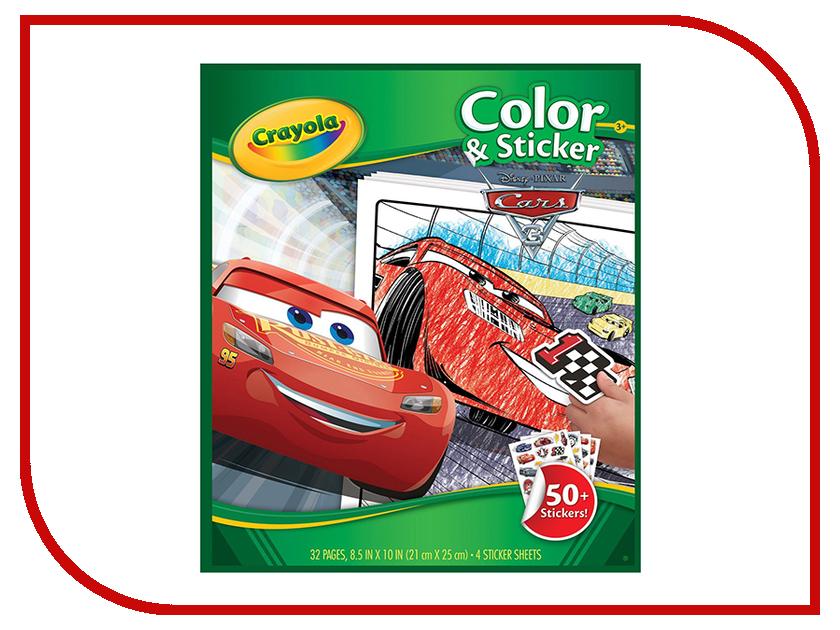 Раскраска с наклейками Crayola Тачки 3 04-0128R наборы для рисования crayola большой набор для творчеста тачки 3