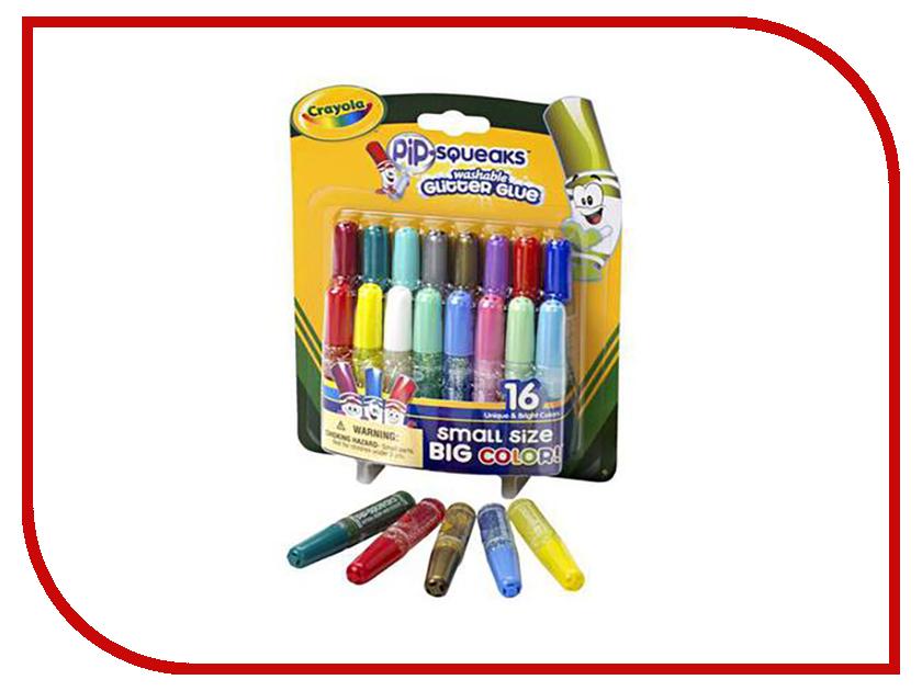 Фото Мини-тюбики с блестящим клеем Crayola 16шт 69-4200