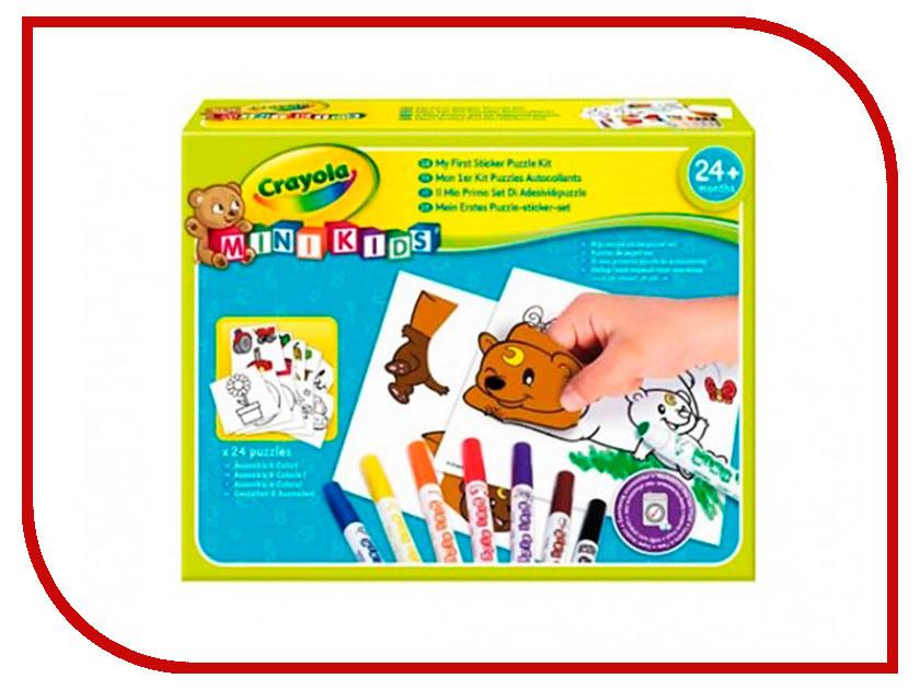 Набор для рисования Crayola Мой первый пазл с наклейками 81-8113 мой первый атлас мира с наклейками