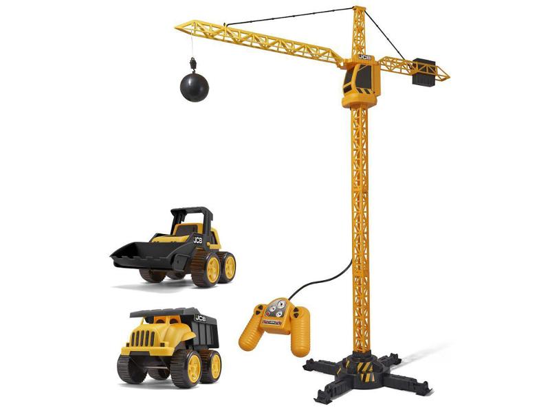Игрушка HTI Строительный кран JCB 100 + 2 машинки 1416420 игрушка hti roadsterz локомотив 1370104
