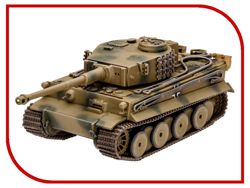Сборная модель Revell Танк PzKpfw VI Ausf. H Tiger 03262R realts dragon 6730 1 35 tiger 1 early production pz kpfw vi ausf e wittmann s command