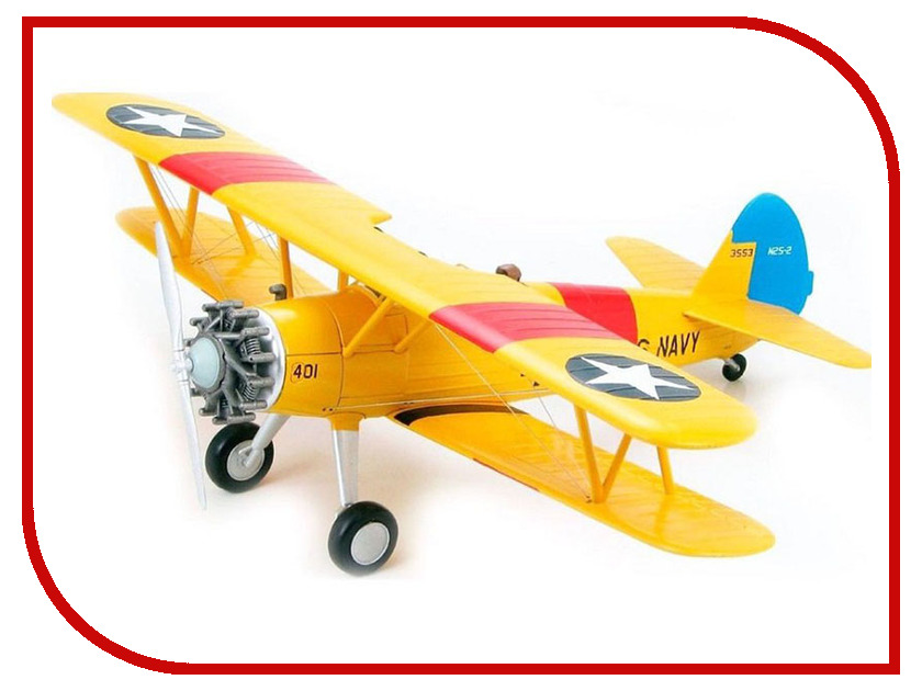 Сборная модель Revell Самолет Биплан Stearman PT-13D Kaydet 04676R pt 17 trainer remote control aircraft aeromodelling 4 ch 2 4ghz stearman pt 17 rc bi plane airplane pnp and kit