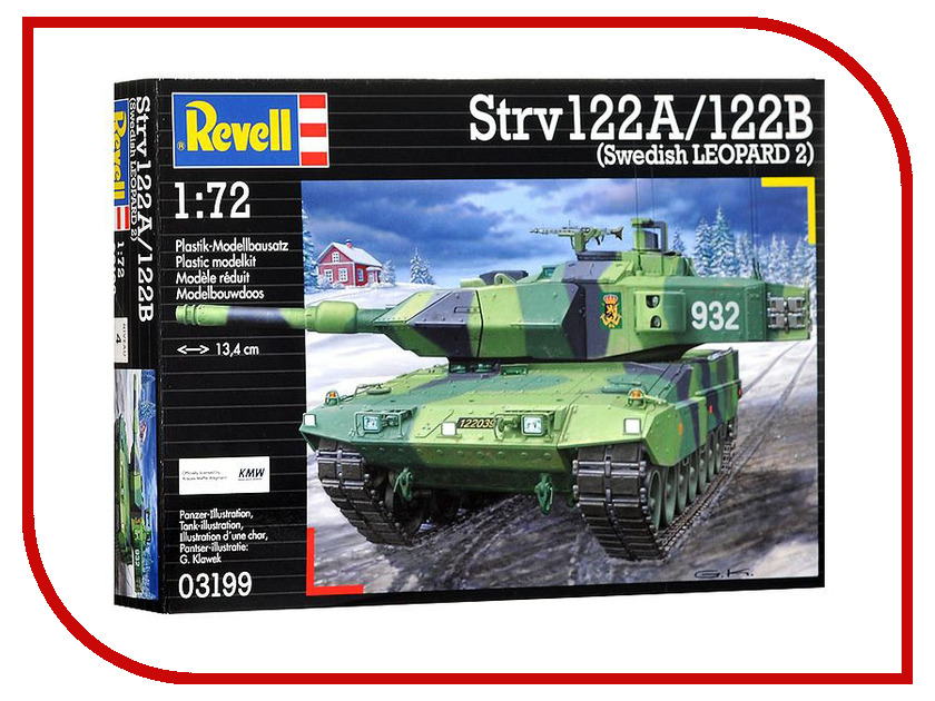 Сборная модель Revell Танк Stridsvagn 122A / 122B 03199R hcs f299a 122b