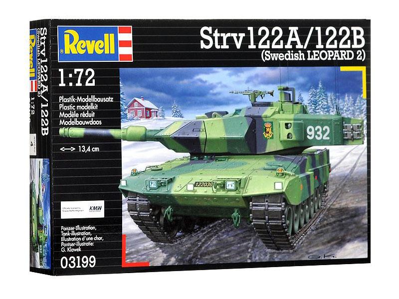 Сборная модель Revell Танк Stridsvagn 122A / 122B 03199R сборная модель revell крестокрыл