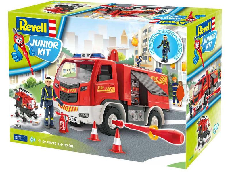 Сборная модель Revell Набор для детей Пожарная машина с фигуркой 00819 сборная модель revell локомотив big boy 02165r