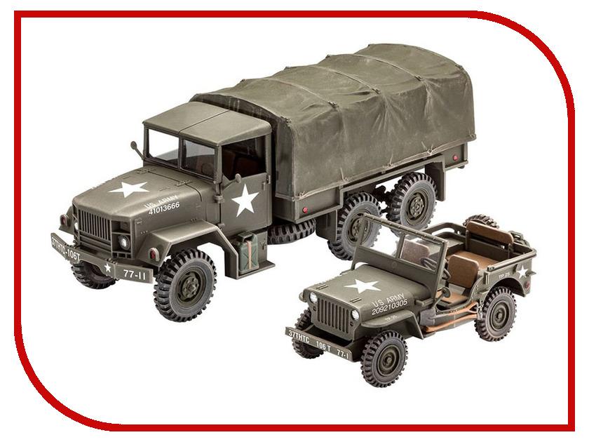 Сборная модель Revell Тактический грузовик M34 и Внедорожник 03260 revell 36165 бронзово зеленая матовая