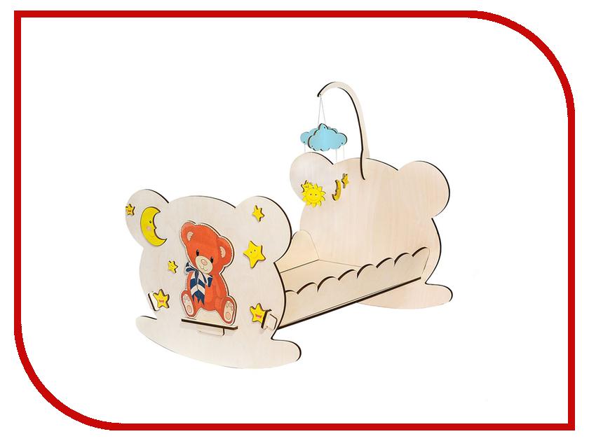 Игра Большой слон Кроватка кукольная Мишутка С-001 обычная кроватка уренская мебельная фабрика мишутка 14 с ящиком темная
