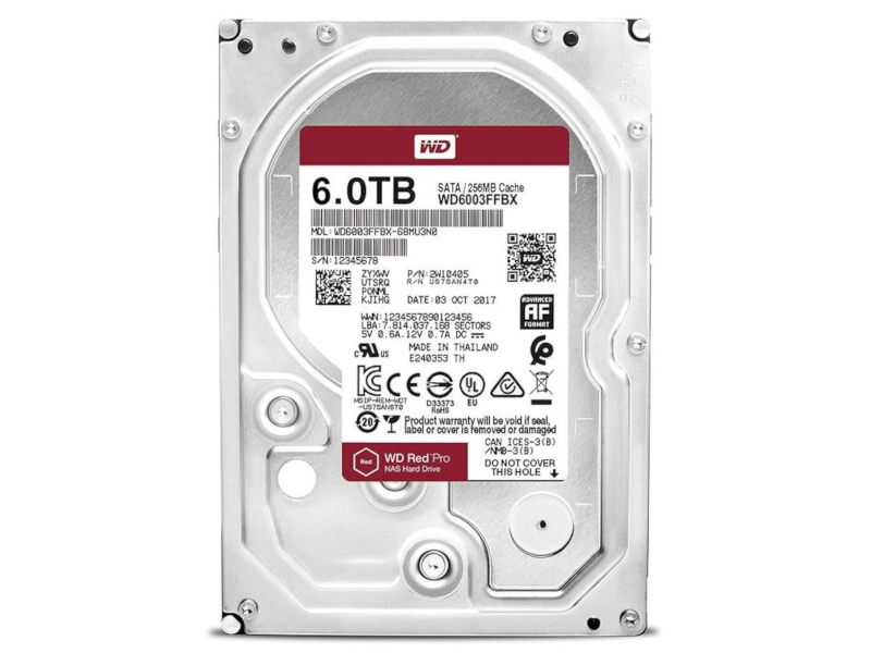 Жесткий диск Western Digital WD Red Pro 6 TB (WD6003FFBX)