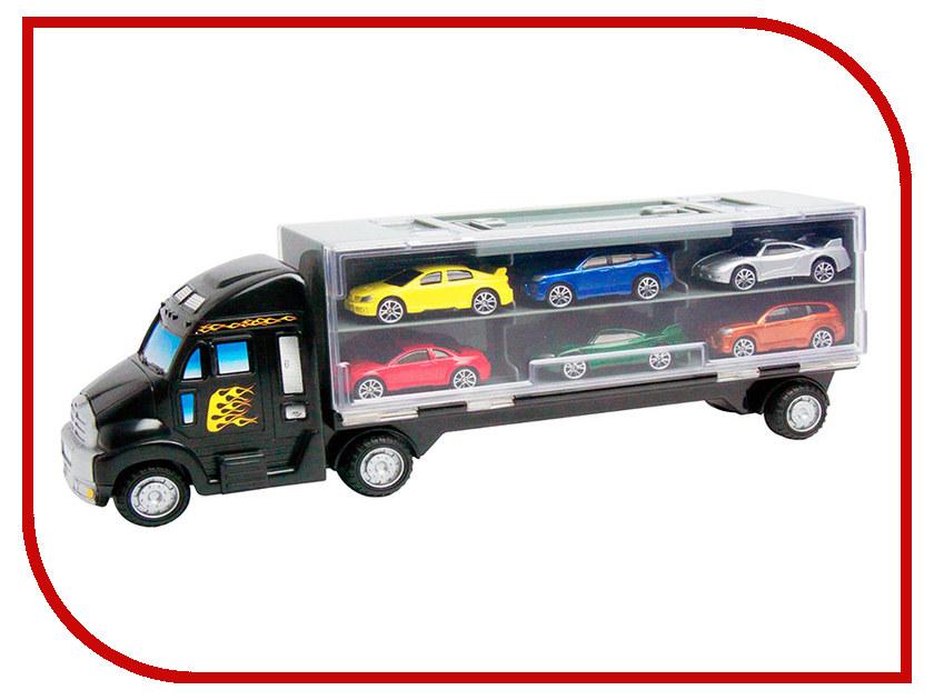 Игрушка Motormax Грузовик + 6 машин 78128C motormax motormax грузовик для перевозки автомобилей с 3 машинками