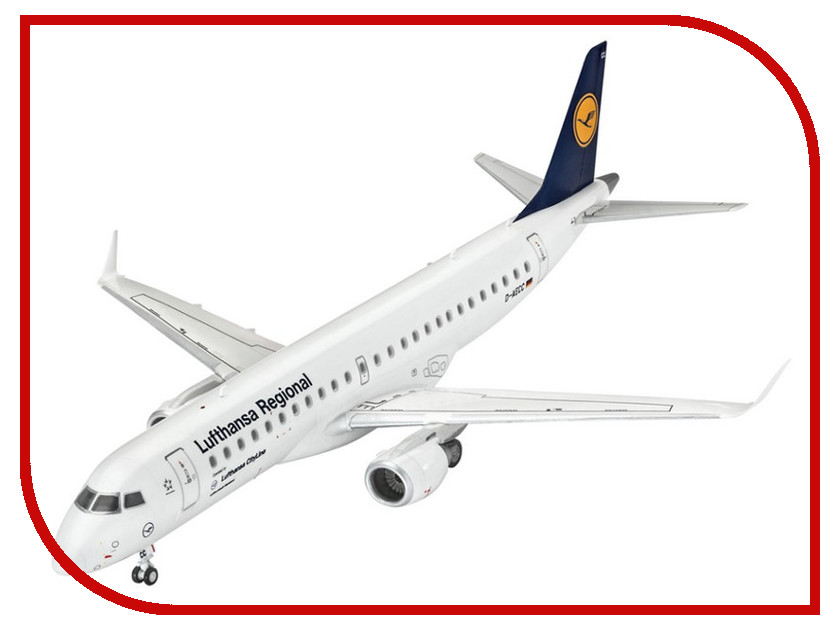 Сборная модель Revell Самолет Пассажирский Embraer 190 Lufthansa 03937R самолеты и вертолеты revell сборная модель сборная модель пассажирский самолет dhc 6 twin otter 1 72