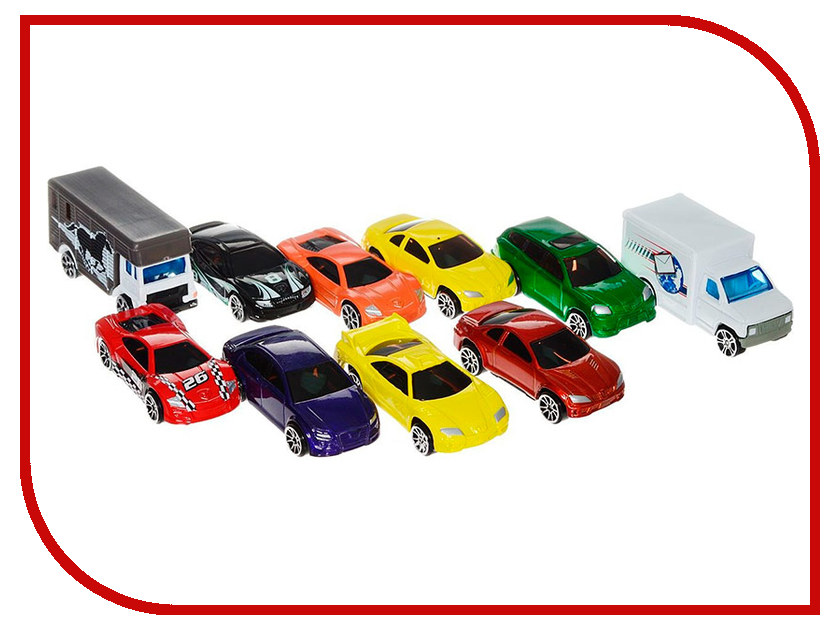 Игрушка Motormax Набор машинок Die Cast 10шт 75648 1 18 scale children brand miniature 300slr uhlenhaut coup vintage classic die cast cars styling metal model toys gifts for boys