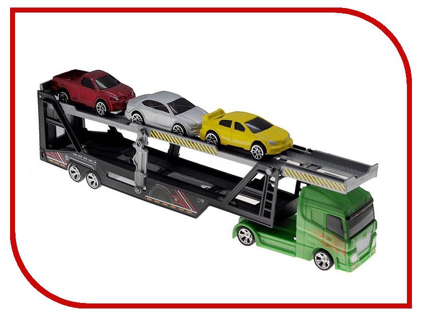 Игрушка Motormax Грузовик + 3 машинки 76540 машинки motormax машинка колл��кционная audi q5