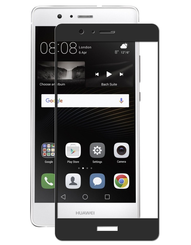 Аксессуар Защитное стекло Innovation для Huawei P9 Lite 2D Black 11129