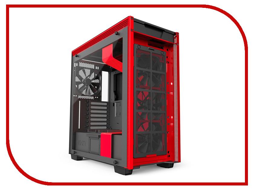 Корпус NZXT H700i Black-Red CA-H700W-BR