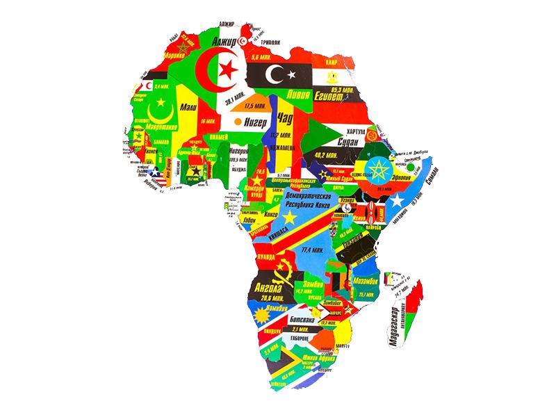 Пазл Геомагнит Африка 1004