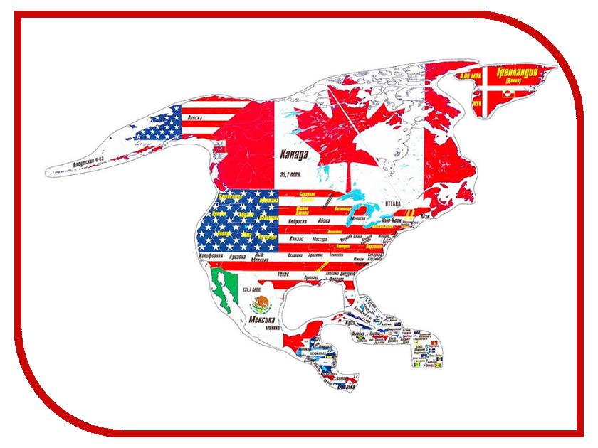 Пазл Геомагнит Северная Америка 1005 атласы и карты геомагнит магнитный пазл южная америка 16 элементов
