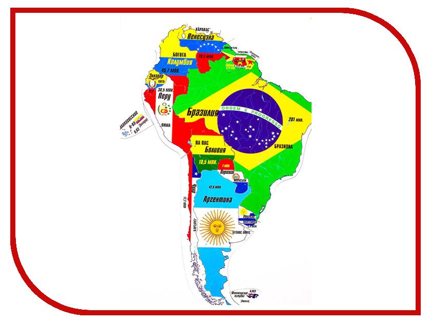 Пазл Геомагнит Южная Америка 1006 атласы и карты геомагнит магнитный пазл южная америка 16 элементов