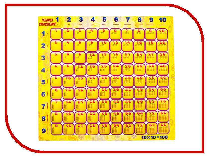 Пазл Геомагнит Таблица умножения 1010 таблица умножения