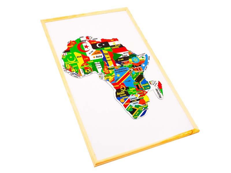 Пазл Геомагнит Африка на доске 32х51cm 1035